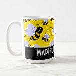 Niedliche gelbe u. schwarze Biene Tassen