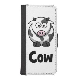 Niedliche gepunktete Kuh iPhone SE/5/5s Geldbeutel