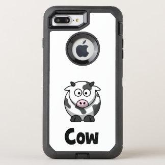 Niedliche gepunktete Kuh OtterBox Defender iPhone 8 Plus/7 Plus Hülle