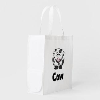 Niedliche gepunktete Kuh Wiederverwendbare Einkaufstasche