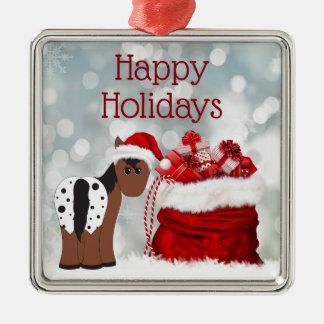 Niedliche Geschenk-glückliches Silbernes Ornament