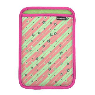 Niedliche gestreifte Sterne für Mädchen iPad Mini Sleeve