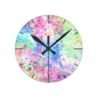 Niedliche gezeichnete Watercolors Entwurf des Uhr