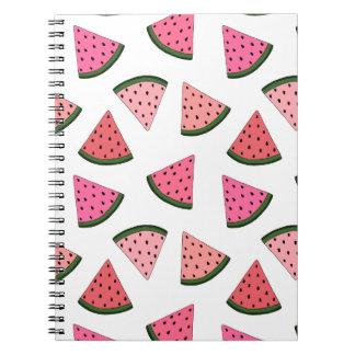 Niedliche gezeichnetes Muster der Wassermelone Spiral Notizblock