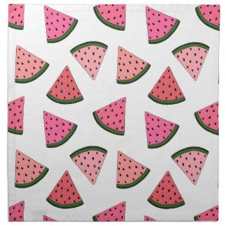Niedliche gezeichnetes Muster der Wassermelone Stoffserviette