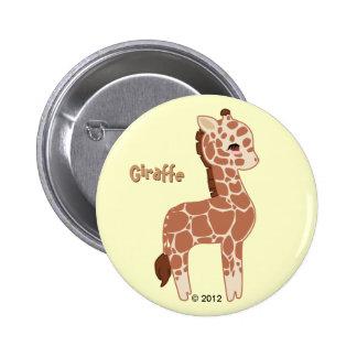 Niedliche Giraffe Runder Button 5,1 Cm
