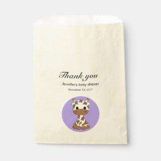 Niedliche Giraffe kawaii Cartoon-Babydusche danken Geschenktütchen