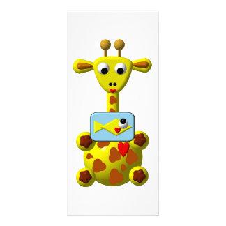 Niedliche Giraffe mit Goldfish Werbekarte