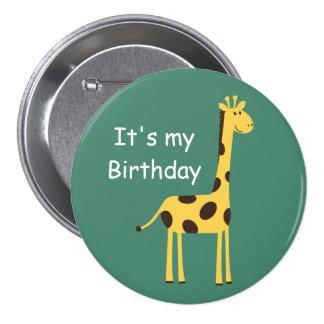 Niedliche Giraffe Runder Button 7,6 Cm