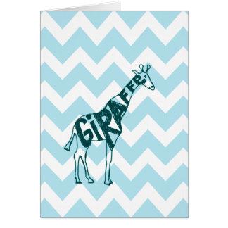 Niedliche Giraffen-Hand gezeichnete Skizze auf Karte