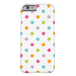 Niedliche Girly bunte Polka-Punkte Barely There iPhone 6 Hülle