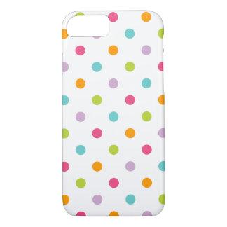 Niedliche Girly bunte Polka-Punkte iPhone 8/7 Hülle