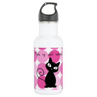 Niedliche Girly elegante rosa Polka-Punkte Trinkflasche