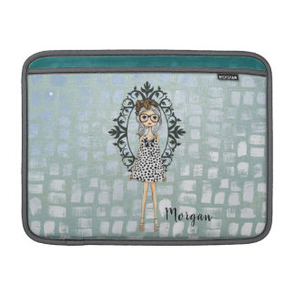 Niedliche Girly Geeky Hipster Macbook Luft-Hülse Sleeve Fürs MacBook Air