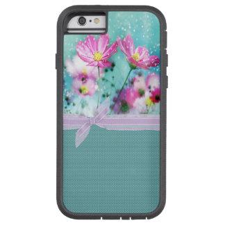 Niedliche Girly Polka-Punkte, blühende Blumen Tough Xtreme iPhone 6 Hülle