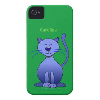 Niedliche glückliche blaue lächelnde Case-Mate iPhone 4 hülle