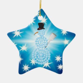 Niedliche glückliche Feiertage des Snowman-| Keramik Ornament