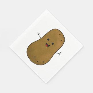 Niedliche glückliche Kartoffel Servietten