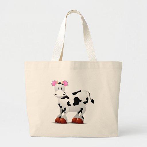 Niedliche glückliche Kuh-Cartooncharaktere Tasche