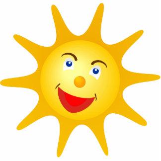 Niedliche glückliche Sonne Freistehende Fotoskulptur