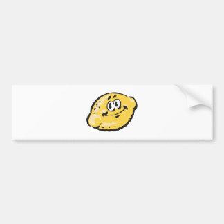 niedliche glückliche Zitrone Autoaufkleber