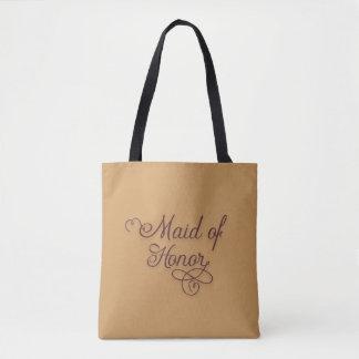 Niedliche Goldburgunder-Trauzeugin-Taschen-Tasche Tasche
