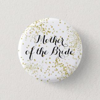 Niedliche GoldGlitzer-Mutter des Braut-Knopfes Runder Button 3,2 Cm