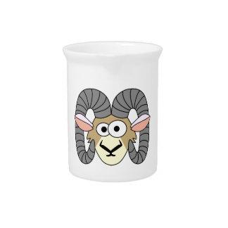 Niedliche Goofy RAM-Schafe Getränke Pitcher