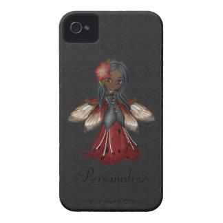 Niedliche gotische Blumen-feenhaftes BlackBerry iPhone 4 Etuis
