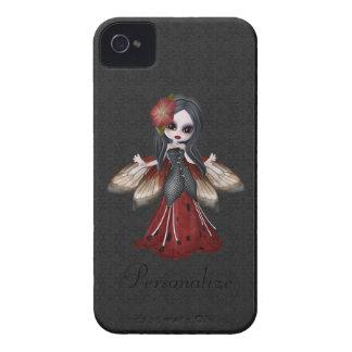 Niedliche gotische Blumen-feenhaftes BlackBerry Case-Mate iPhone 4 Hüllen