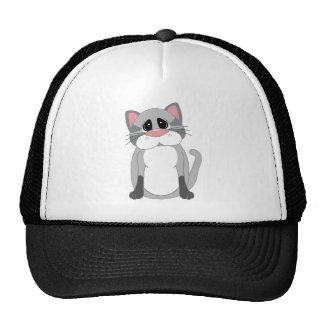 Niedliche graue Katze Baseballkappe