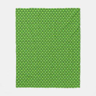 Niedliche grüne Außerirdische-Muster-Fleece-Decke Fleecedecke