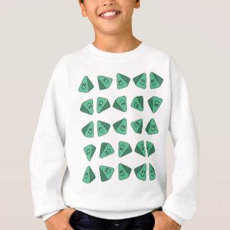 Niedliche grüne Dreieck-Fliese Sweatshirt
