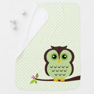 Niedliche grüne Eule Baby-Decken
