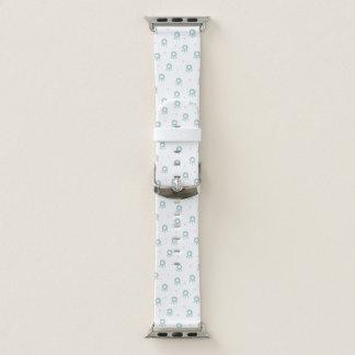 Niedliche grüne Haustier-Tatzen mit Herzen Apple Watch Armband