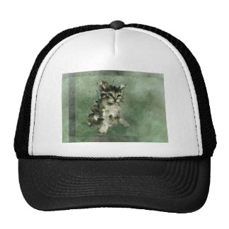 Niedliche grüne Katze Truckerkappe