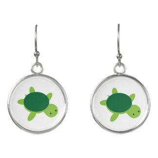 Niedliche grüne Schildkröte-Tropfen-Ohrringe Ohrringe