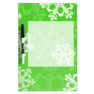 Niedliche grünes und weißes trockenlöschtafel