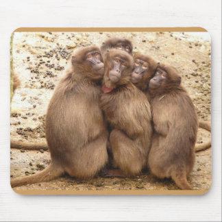 Niedliche Gruppe der Affe-Mausunterlage Mauspad