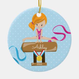 Niedliche Gymnast-Gymnastik-Weihnachtsverzierung Keramik Ornament