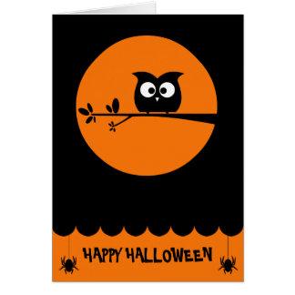 Niedliche Halloween-Eule + kundengebundene