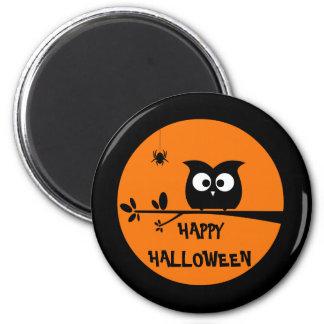 Niedliche Halloween-Eule mit kundengebundenen Runder Magnet 5,1 Cm