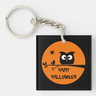 Niedliche Halloween-Eule mit kundengebundenen Schlüsselanhänger