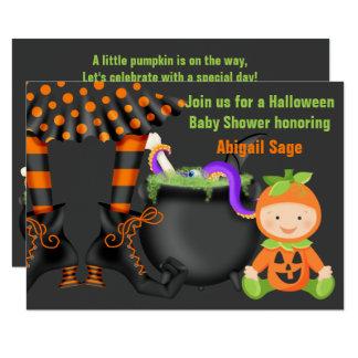 Niedliche Halloween-Kürbis-Baby-Duschen-neutrale Karte