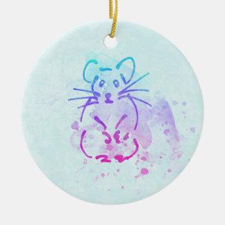 Niedliche Hamster-Skizze - personifizieren Sie Keramik Ornament