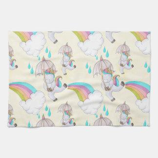 Niedliche Hand gezeichnetes Unicorn-Muster Küchentuch