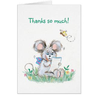 Niedliche Häschen-Kinder danken Ihnen zu merken Karte