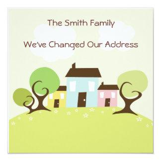 Niedliche Haus-bewegliche Adressen-Änderung Quadratische 13,3 Cm Einladungskarte