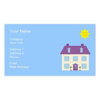 Niedliche Haus-Illustrations-wirkliche Visitenkartenvorlage