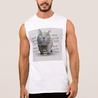 Niedliche Haustier-Foto-Schablone Ärmelloses Shirt